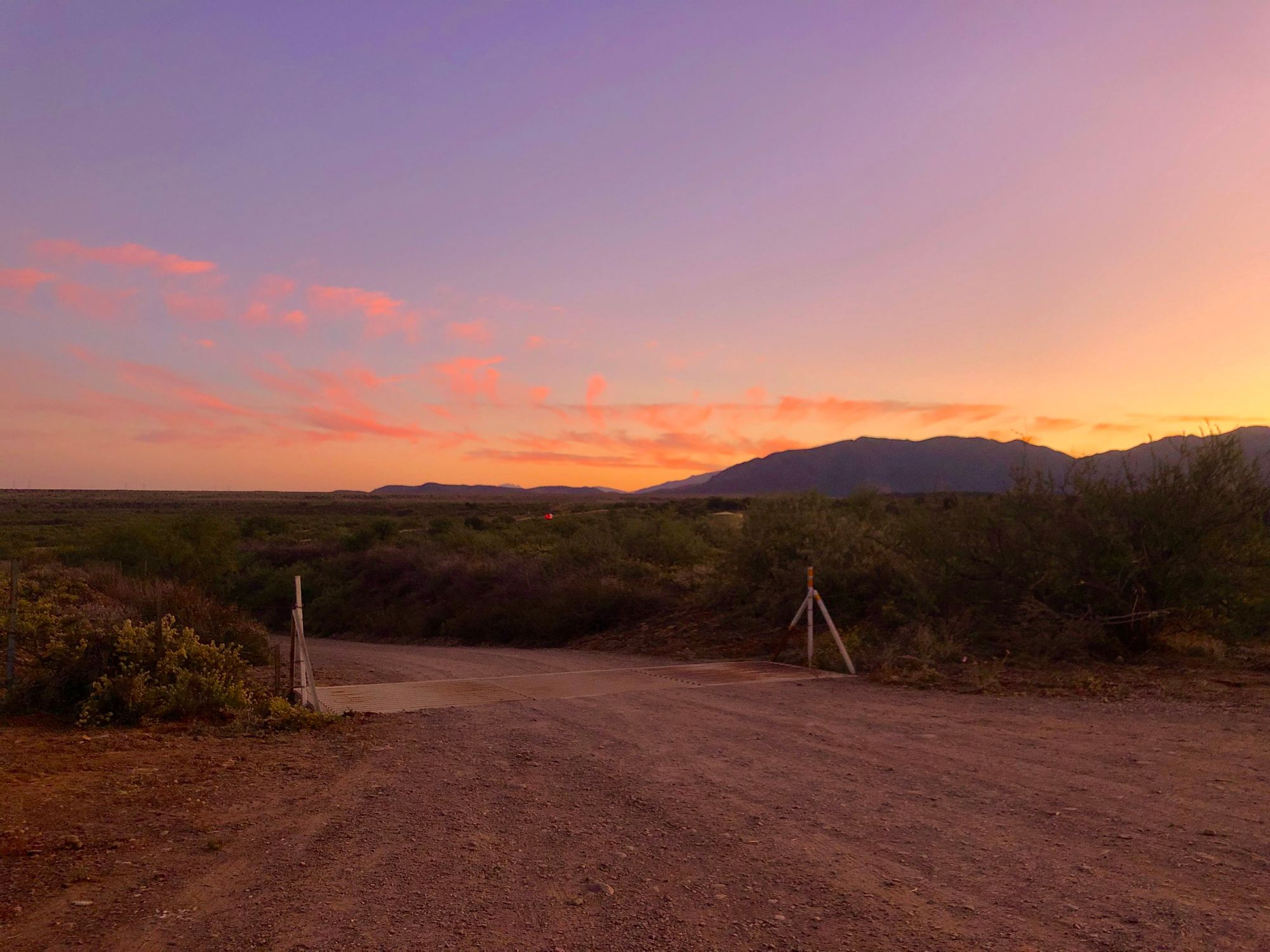 Dirt Road Sunset at Barnhardt Road in Tonto National Forest in Arizona