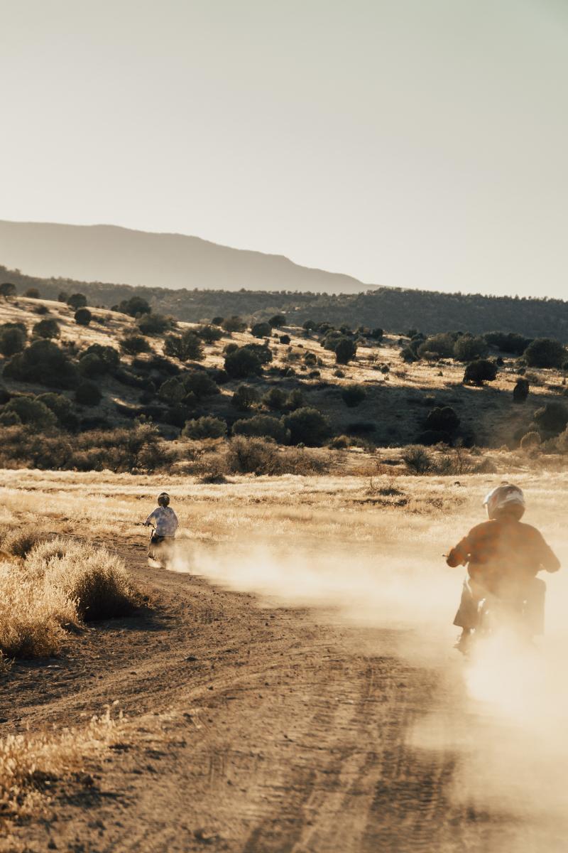 Off-roading near Sedona, Coleman Powersports mini-bikes